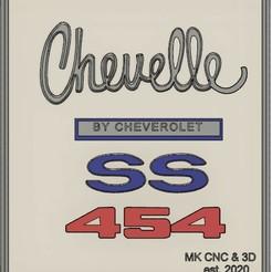 chevelle .jpg Télécharger fichier STL gratuit Plaque d'hommage au SS Chevelle 454 de 1970 • Objet pour impression 3D, mkosmider