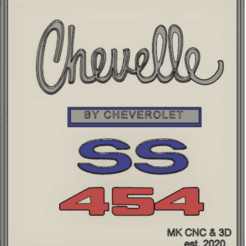 Download free STL file 1970 SS Chevelle 454 Tribute Plaque  • 3D printable model, mkosmider