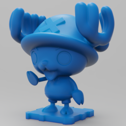 Download free 3D printer designs Holiday Special 3! OnePiece Chopper! Rudolph Version!!, purakito