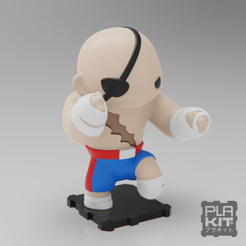 Download free 3D printing files Street Fighter SAGAT, purakito