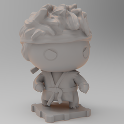 RYU4SQ.png Download free STL file Street Fighter RYU • Model to 3D print, purakito