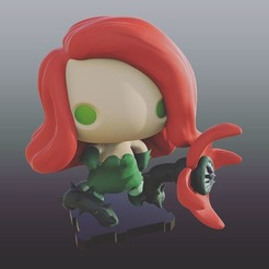 Free 3d printer designs DC Poison Ivy, purakito