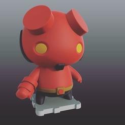 Free 3d printer designs Hellboy, purakito