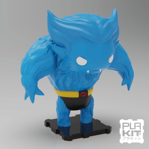 Free 3D printer files X-MEN Beast, purakito