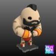 Télécharger plan imprimante 3D gatuit Street Fighter ZANGIEF, purakito