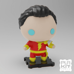 Free 3D printer files DC Shazam!, purakito