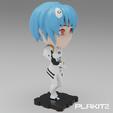 Objet 3D gratuit Neon Genesis Evangelion Rei Ayanami (Série PlaKit2), purakito