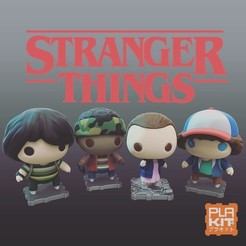 Télécharger STL gratuit Stranger Things Saison One Set, purakito