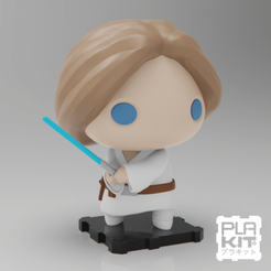 Descargar STL gratis StarWars Luke Skywalker, purakito