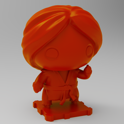 Free 3D print files Street Fighter KEN, purakito