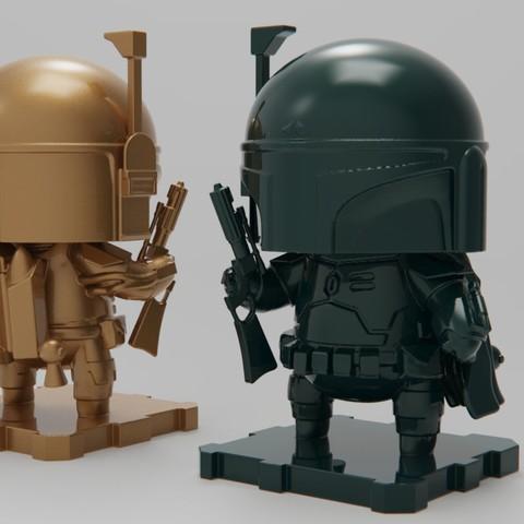Imprimir en 3D gratis StarWars Boba Fett, purakito