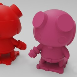Free 3D printer designs Hellboy, purakito