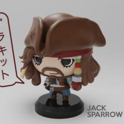 Descargar diseños 3D gratis PIRATAS DEL CARIBE - JACK SPARROW, purakito