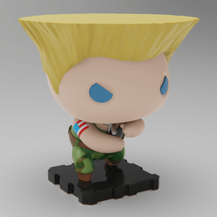 Free 3D print files Street Fighter GUILE, purakito