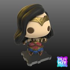fichier 3d gratuit Wonder Woman, purakito