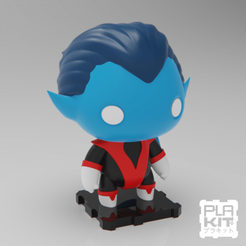Free 3D printer designs X-MEN Nightcrawler, purakito