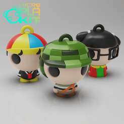 Download free 3D printing templates El Chavo del Ocho Set (CHAVES) (MicroPlaKit Series), purakito