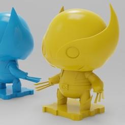 Modelos 3D para imprimir gratis Paquete doble de Wolverine de Marvel Classics! 90s y Retro, purakito