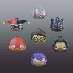Download free 3D model PlaKit's Mobile Charms Series 1 [UPDATED], purakito