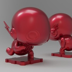 Free 3D print files DC The Flash, purakito