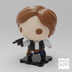 Download free 3D printer templates StarWars Han Solo, purakito