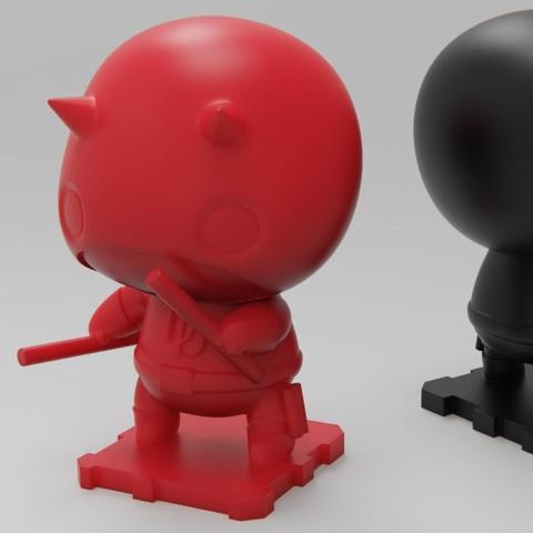 Impresiones 3D gratis Marvel DareDevil, purakito