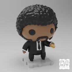 Imprimir en 3D gratis Pulp Fiction Jules, purakito