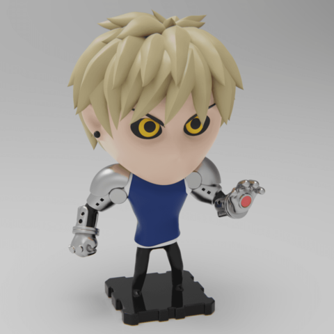 Free STL files One Punch Man GENOS (PlaKit2 Series), purakito