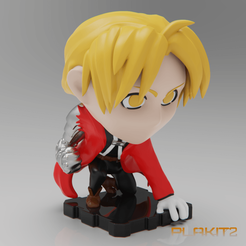 Download free 3D printing files FullMetal Alchemist EDWARD (PlaKit2 Series), purakito