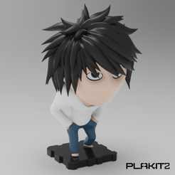 Free 3D print files Death Note 'L', purakito