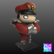 Free 3D print files Street Fighter M.BISON, purakito