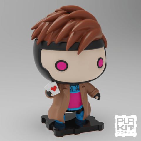 Descargar Modelos 3D para imprimir gratis Gambito X-MEN, purakito