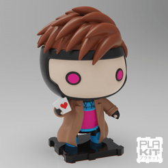 SQGAM (1).png Download free STL file X-MEN Gambit • 3D print design, purakito