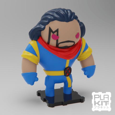 Free 3D printer model X-Men BISHOP, purakito