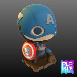 archivos 3d Capitán América La Primera Versión Vengadora gratis, purakito