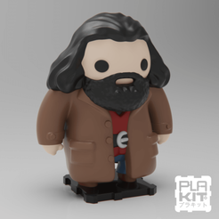 Download free 3D printer designs Harry Potter's Rubeus Hagrid, purakito