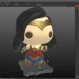 Free STL Wonder Woman, purakito