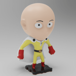 Download free 3D printer designs One Punch Man SAITAMA (PlaKit2 Series), purakito