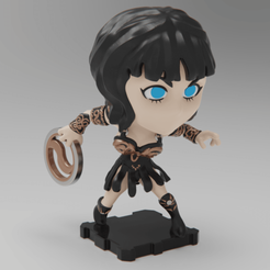 Download free 3D printing models XENA Warrior Princess (PlaKit2 Series), purakito
