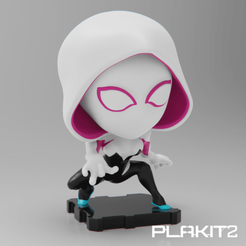 Download free 3D print files Spider-Gwen (PlaKit2 Series), purakito