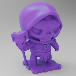 Download free 3D printer files Skeletor (Masters of the Universe), purakito