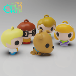 Download free 3D printing templates Scooby-Doo! Set (MicroPlaKit Series), purakito