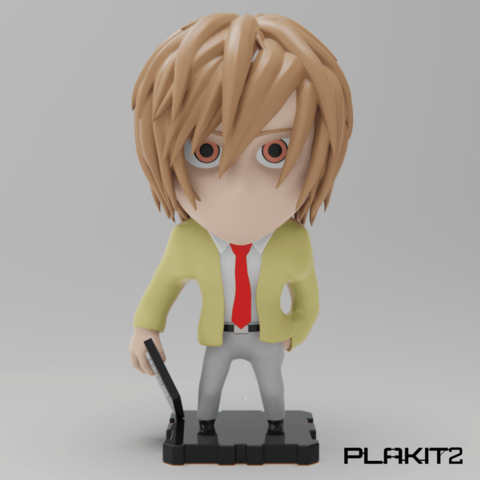 Plan imprimante 3D gatuit Death Note LIGHT YAGAMI, purakito