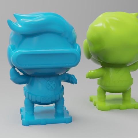 Impresiones 3D gratis Cíclope X-MEN 90s, purakito