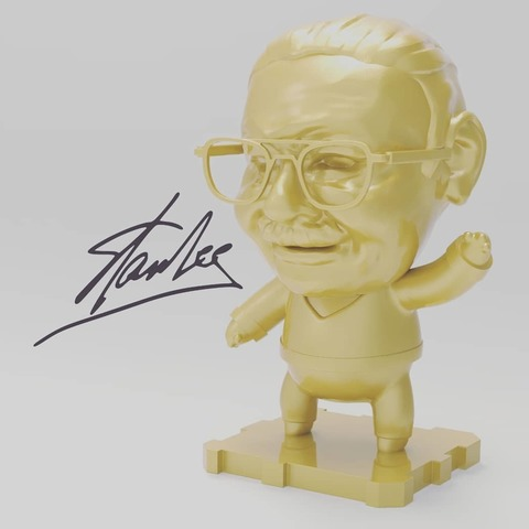 Imprimir en 3D gratis TRIBUTO A STAN LEE[1922 - 2018]!!!!, purakito