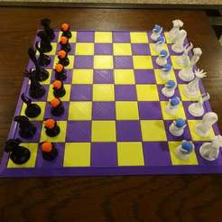 Descargar modelo 3D gratis Tablero de ajedrez - 4 secciones, jonbourg