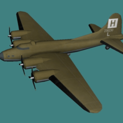 Download free 3D printer templates Low Poly B-17, Homesick Angel, jonbourg