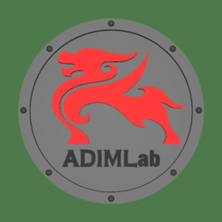 Logo_Coaster.png Download free STL file Adimlab Logo Coaster • 3D printable design, jonbourg