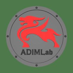 Télécharger objet 3D gratuit Dessous de verre avec logo Adimlab, jonbourg