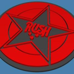 Télécharger fichier STL gratuit Dessous de verre de l'emblème de la ruée • Plan imprimable en 3D, jonbourg